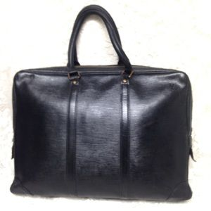 Louis Vuitton Black Epi  Leather Large Briefcase